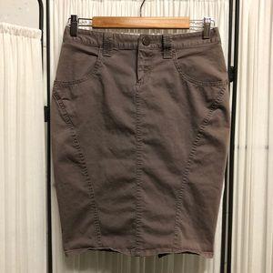 London Jean - Chino Stretch Pencil Skirt - Size 0